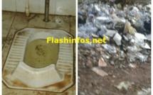 Triste ! Les toilettes crasseuses et puantes du Stade de Kolda