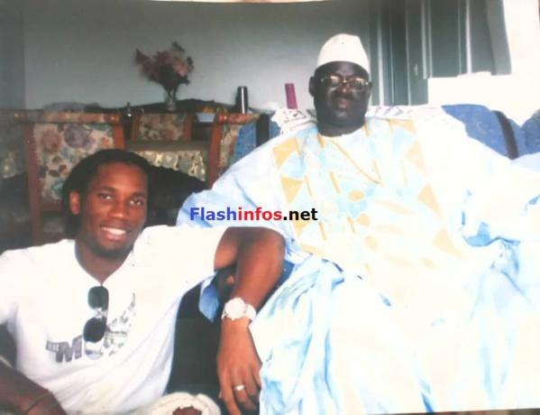 Didier Drogba et son Marabout El Hadj Sidya Dramé…(Images)