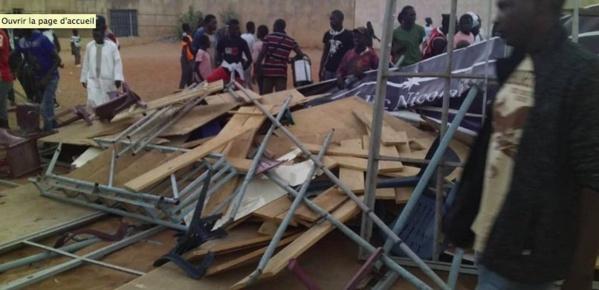 Stade municipal de Mbour : L'effondrement d'une tribune amovible fait plusieurs blessés