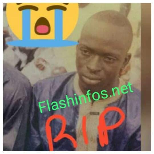 Voici Ousmane Diop, le jeune mécanicien tué par la tête d'un camion à Ziguinchor...