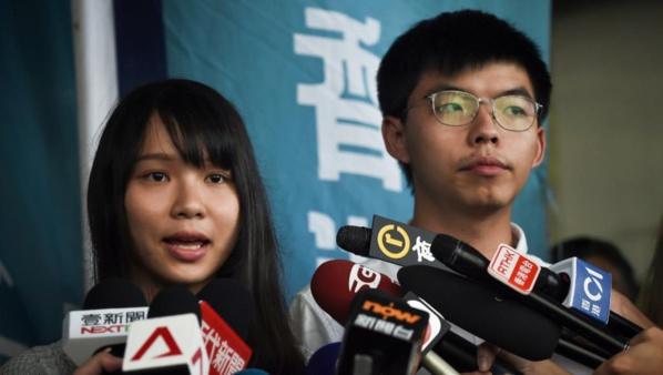 Hong Kong: les deux figures contestataires Joshua Wong et Agnès Chow libérés