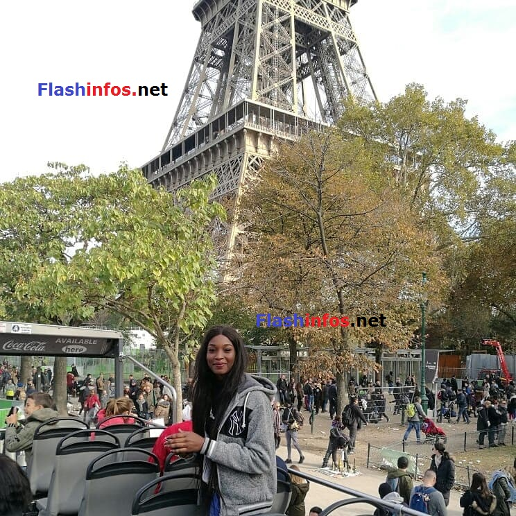 Photos : Yacine Dieng Thiam, Miss Sénégal 2017 en visite Paris