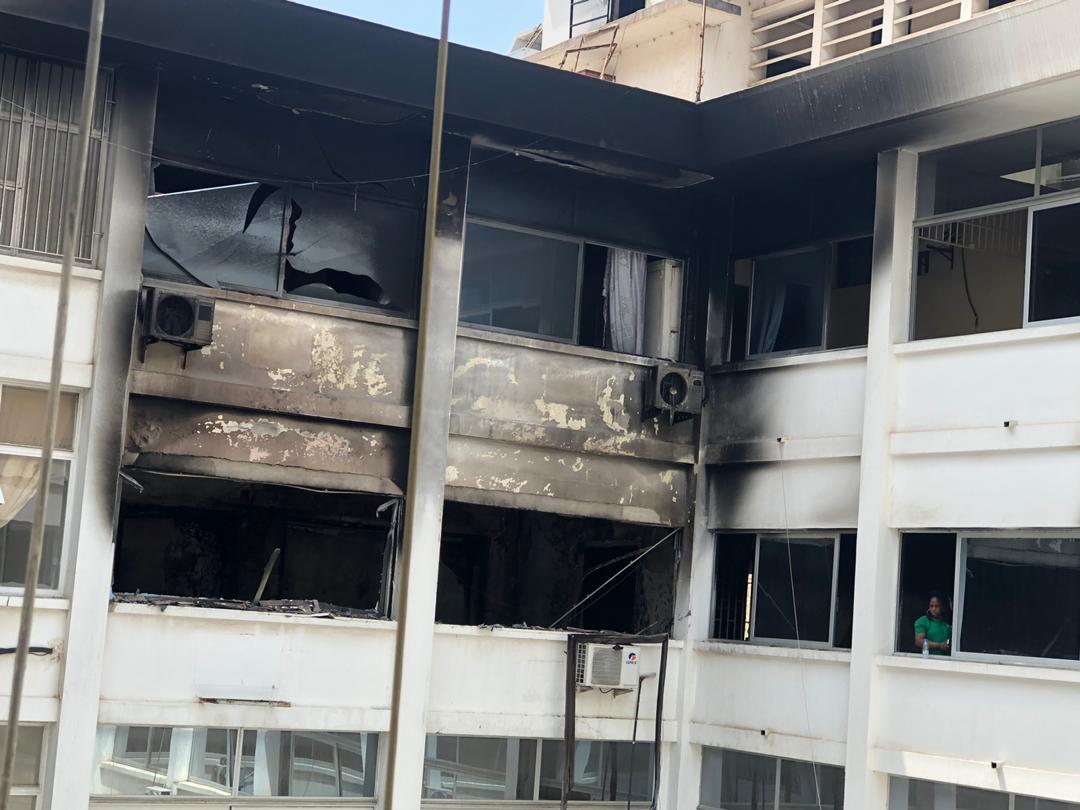 Incendie à la Direction Générale du Trésor Public de Dakar