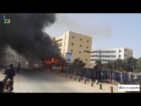 Collège Hyacinthe Thiandoum : Deux bus prennent feu