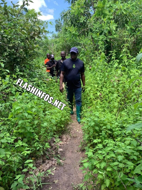 Baldé visite ses champs de Darsalam, Baghagha, Cabrousse...
