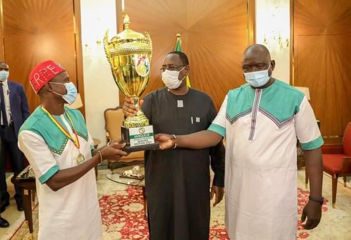 Le Casa Sports reçu par le chef de l'Etat Macky Sall