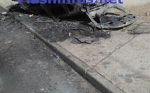 Une voiture Mercedes prend feu sur la Corniche de Dakar