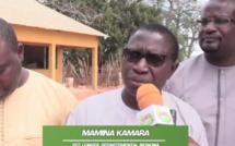 BIGNONA : Les populations de Sitoukène construisent le mur de clôture du cem par des cotisations...Mamina Kamara magnifie...
