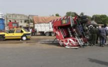 Ziguinchor : Un véhicule d'intervention des Sapeurs Pompiers se renverse et fait 13 blessés.