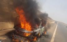 Kaolack : Un 4X4 prend feu et fait 1 mort et 3 blessés